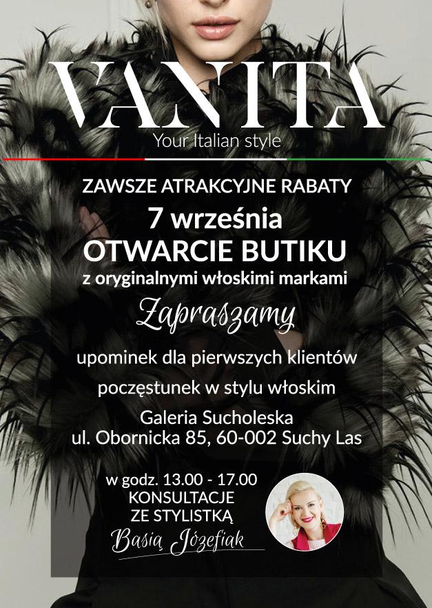 7.09 – otwarcie butiku z oryginalnymi włoskimi markami – VANITA